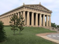 """Centennial park and The Parthenon.  Nashville is called """"The Athens of the South"""" because of the number of Universities here, thus the full sized replica.  Inside is a 40 foot tall statue of Athena."""