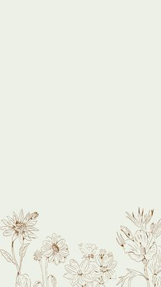 Download premium vector of Hand drawn wildflowers patterned mobile phone