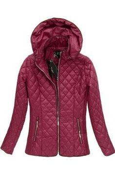 Dámska prechodná bunda bordová 7056BIG Winter Jackets, Outfit, Fashion, Winter Coats, Outfits, Moda, Winter Vest Outfits, Fashion Styles, Fashion Illustrations