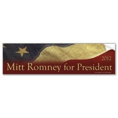 Romney for President Bumper Sticker