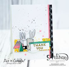 Stampin' Up! 2017-2018 Sneak Peek: Pieces & Patterns stamp set and Pick A Pattern DSP card from CrushOnColour.com / Shannon Lane, Independent Demonstrator in Canada