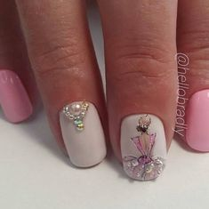 Hottest Trends for Acrylic Nail Shapes Beautiful Nail Designs, Beautiful Nail Art, Gorgeous Nails, Amazing Nails, Pink Nails, Glitter Nails, My Nails, Nail Art Designs Videos, Gel Nail Designs
