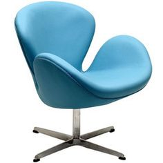 Modway Furniture Wing Lounge Chair in Baby Blue