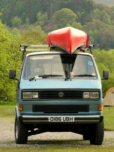 vw t25 / t3 syncro. old town canoe