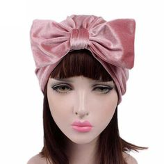 ad1f3db3c5d 2017 New Europe Women Winter Autumn Fashion Bowknot Hat Cancer Chemo Beanie  Scarf Velvet Muslim Turban Hats Indian Caps-in Skullies   Beanies from  Women s ...
