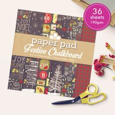 Craftwork Cards - Festive Chalkboard - 8 x 8 inch paper pad