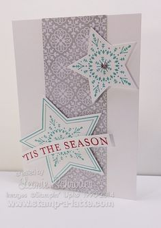 Many Merry Stars - quick and easy Christmas Cards using Many Merry Stars and Simple Christmas Cards, Stampin Up Christmas, Holiday Cards, Christmas Crafts, Cards Diy, Kids Cards, Card Making Inspiration, Making Ideas, Stampin Up Many Merry Stars