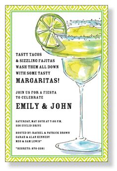 cinco de mayo shower invite :o) or maybe a fiesta reception