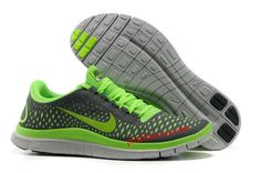 331a1988a554 Dark Grey Electric Green Wolf Grey Nike Free 3.0 V4 Men s Running Shoes Nike  Roshe Run