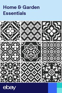 Traditional Tile Stickers Vintage Transfers Kitchen Bathroom Black and White- Bathroom Tile Stickers, Wall Stickers Tiles, Wall Decals, Ceramic Wall Tiles, Glass Mosaic Tiles, Shower Splashback, Tile Transfers, Wood Effect Tiles, Traditional Tile