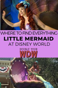 Where can you find Princesses at Disney World? Here I'll tell you where you can find everything The Little Mermaid and Ariel and Eric at Disney World parks and resorts. Disney world planning tips and tricks to help you get the most out of your vacation Disney World Rides, Disney World Florida, Disney World Parks, Disney World Planning, Walt Disney World Vacations, Ariel Disney World, Mermaid Disney, Disney Land, Disney Travel