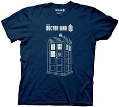 Dr. Who Series 7 Linear Tardis Phone Box Adult T Shirt Sci Fi
