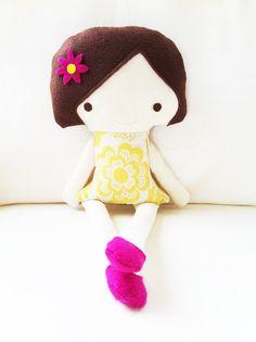 Doll Sewing Pattern  Girl Doll Softie  PDF by GandGPatterns, $10.00