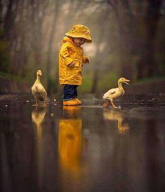 Color of sunshine in the rain