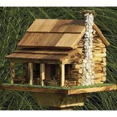 How To Building Bird Houses log cabin birdhouse http://socialaffiliate.wix.com/bird-houses