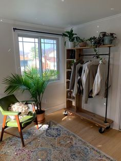 (paid link) How to Build an A-Frame Clothes rack bedroom. #clothesrackbedroom