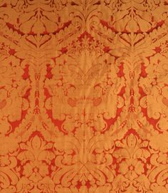 Faux Silk Fabric / Red