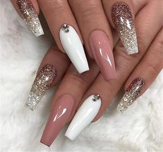 Acrylic nail art 651755377304832921 - Ballerina Nail Art Tips Transparent/Natural False Coffin Nails Art Tips Flat Shape Full Cover Manicure Fake Nail Tips Source by elodieplatof Best Acrylic Nails, Acrylic Nail Art, Acrylic Nail Designs, Nail Art Designs, Nails Design, Coffin Nail Designs, Acrylic Nails Coffin Glitter, Stiletto Nails Glitter, Pink Glitter