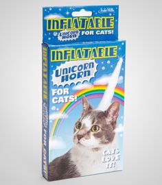 Inflatable Unicorn Horn For Cats BEST!