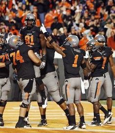 Loved this Oklahoma State combo. Every week Oklahoma State intrigues me uniform wise.