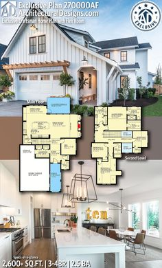 Exclusive Craftsman Home Plan with Flex Room Architectural Designs Exclusive Farmhouse Plan gives you bedrooms, baths and sq. Where do YOU want to build?Architectural Designs Exclusive Farmhouse Plan gives you bedrooms, . The Plan, How To Plan, Flex Room, Craftsman House Plans, Narrow Lot House Plans, Small Floor Plans, Dream House Plans, Beach House Floor Plans, Two Story House Plans