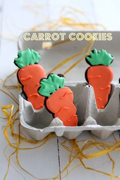 Carrot Sugar Cookies and more Easter Cookie Recipes Easter Cookie Recipes, Easter Cookies, Easter Treats, Holiday Cookies, Holiday Treats, Holiday Fun, Easter Desserts, Holiday Recipes, Easter Brunch
