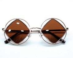 Diamond Cut out Sunglases- Black, Gold, and Silver