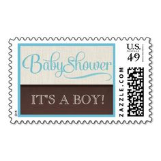 Mocha Rustic New Baby Boy Baby Shower Postage. Wanna make each letter a special delivery? Try to customize this great stamp template and put a personal touch on the envelope. Just click the image to get started!