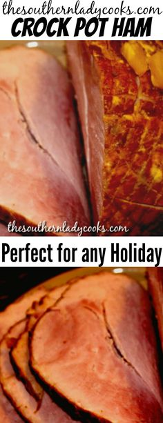 Sep 2018 - Make this crock pot ham for any holiday event or anytime you just want a great ham for your family. Crokpot Recipes, Fruit Recipes, Grilling Recipes, Slow Cooker Recipes, Cooking Recipes, Pork Dishes, Crockpot Dishes, Crock Pot Cooking, Holidays Events