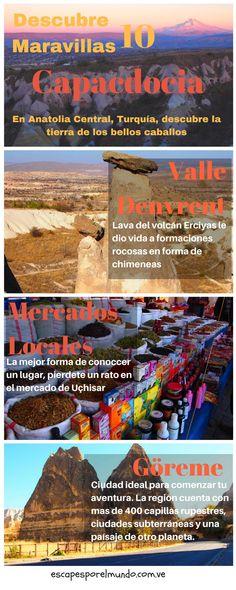 INFOGRAFÍA de Capadocia Turquía un viaje inolvidable por esta región mítica. #viajes #escapesporelmundo #viajeros  #mochileros #bloggers