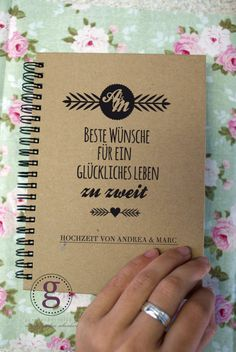 Notizhefte - Hochzeitsgästebuch *Öko* - ein Designerstück von geschenkeverlag bei DaWanda