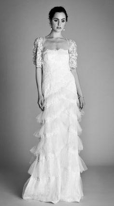 Temperley London Bridal Spring 2012 Ophelia Collection    Dove dress, Arabella shrug
