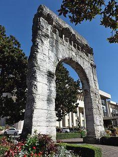 Arc de Campanus, (1er siècle après J.-C) Aix-les-Bains. Rhône-Alpes
