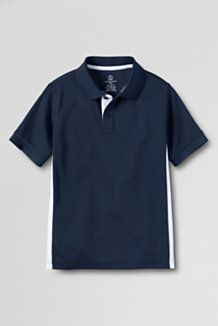 Add a little bit of style to the classic polo with colorblocking | Boys School Uniforms from Lands' End