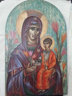 Aggeliki Papadomanolaki, useum.org, agiografia.tumblr.com I Icon, Christian Art, Byzantine, Painting, Catholic Art, Painting Art, Paintings, Painted Canvas, Drawings