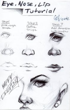 Eye, nose and lip tutorial!