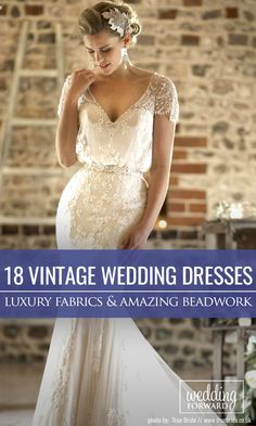 24 Vintage Inspired Wedding Dresses ❤ Most bohemian wedding dresses are created from luxury, silk fabrics and finished with stunning beadwork. Our gallery of vintage inspired wedding dresses will show you vintage romance with ancient bohemian spirit. See more: http://www.weddingforward.com/vintage-inspired-wedding-dresses/ #wedding #dresses #vintage