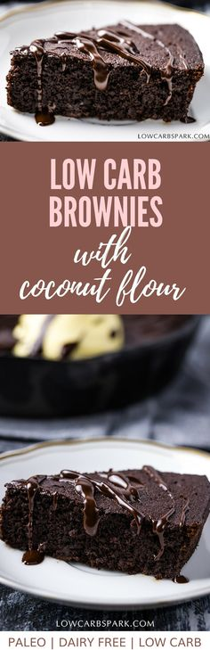 Enjoy a low carb #keto brownie in a skillet. It is so easy to make and super fudgy. If you are allergic to #almondflour, that's not a problem because to make the #ketobrownie you will need coconut flour.  #ketodiet #ketorecipes #ketobrownies #ketodessert | recipe via @lowcarbsparl via @lowcarbspark Keto Desserts, Keto Snacks, Ketogenic Recipes, Ketogenic Diet, Low Carb Recipes, Banting Recipes, Keto Foods, Diabetic Recipes, Dessert Ideas