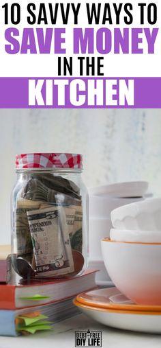 how to save money in the kitchen | money-saving hacks | frugal living tips | #savemoney #kitchen #moneysavingtips #frugal via @cheryllemily