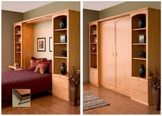 Have additional sleeping space when you need it with a Tailored Living Murphy bed!