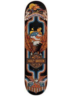 1e1ca08dc2ed Darkstar Harley-Davidson ® Eagle Blue 8.0 Skateboard Deck