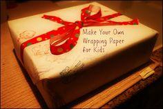 Gummy Lump Toys Blog: Homemade Gift Wrap from #Kids