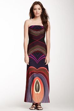 how to wear a strapless maxi dress | Found on hautelook.com