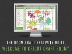 Cricut Craft Room. Coolest thing ever. If you have a cricut you need this program. It's a free download that comes with some free shapes and things and you can link your cartridges to it. You can see exactly what is going to cut and where, it will even tell you what to set the cricut to.