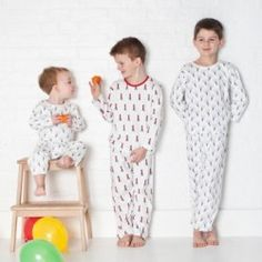 Boys PJs button-up white cotton with Grenadier Guards soldiers ...