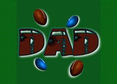 Father's Day football gridiron Dad Greeting Card