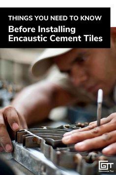 Encaustic Cement Tiles | Wait! Don't start installing your tiles until you read this. #cementtiles #tileadvice