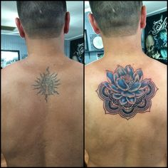 Cover up tattoo before and after lotus mandala