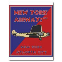 New York Airways - Crisp Post Card