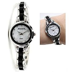 Alexis Women Ladies Water Resistant Crystal Dial Wrist Watch Band Bracelet, Shiny Silver   #WaterResistantWatch #SilverDialWatch #PushButtonClaspWatch #AnalogWatch #ShinySilverWatch #BraceletWatch #CeramicWatch #WomenWatch #StainlessSteelBandWatch #AnalogQuartz #WhiteDialWatch